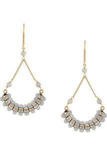 Isabel Marant Beaded Fan-Drop Earrings - Dourado