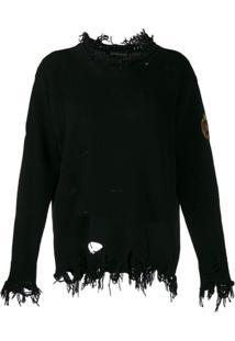 Etro Suéter Com Patch De Logo - Preto