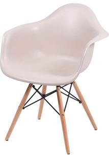 Cadeira Eames Com Braco Base Madeira Fendi Fosco - 35833 - Sun House