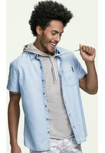 Camisa Jeans Masculina Hering Em Modelagem Slim