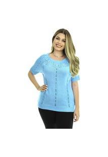 Blusa Tricot Catarina Feminina Shopping Do Tricô Verão T-Shirt