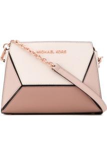Michael Michael Kors Prism Medium Crossbody Bag - Rosa