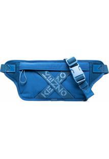 Kenzo Pochete Com Estampa De Logo - Azul