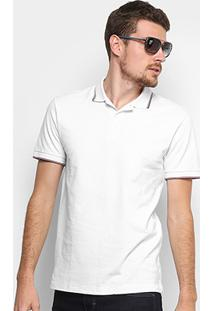 Camisa Polo Forum Piquet Masculina - Masculino-Branco