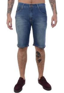 Bermuda Jeans Hd Slim Conf Masculina - Masculino-Azul