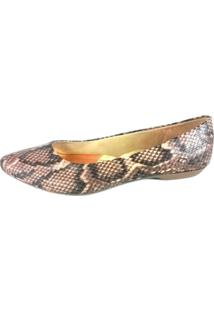Sapatilha Topgrife Pointed Toe Snake