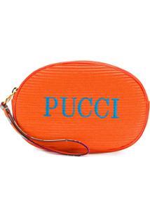 Emilio Pucci Nécessaire Com Logo Bordado - 514-Arancio