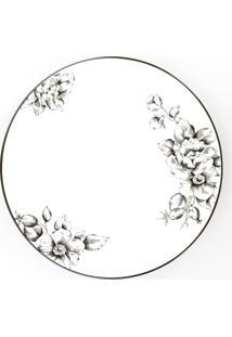 Conjunto De Pratos Rasos Porcelana Schmidt 06 Peças - Dec. Laura