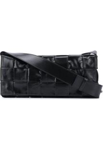Bottega Veneta Intrecciato Weave Shoulder Bag - Preto