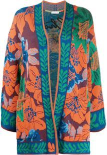 Etro Kimono Com Bordado - Azul