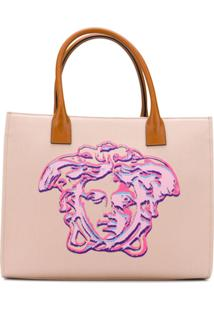 Versace Bolsa Tote Cabas Pop Medusa - Rosa