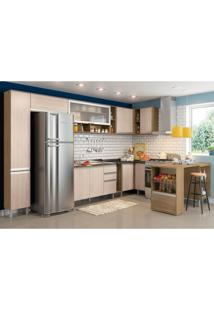 Cozinha Modulada 14 Peças Cp06 Integra Rústico/Creme - Henn