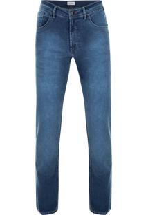 Calça Jeans Pierre Cardin Índigo Light Blue Azul