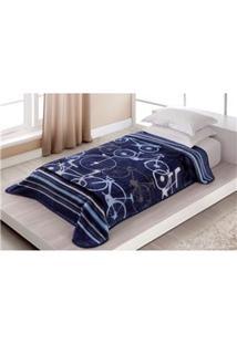 Cobertor Infantojuvenil Corttex Velocity Em Microfibra Com 1 Peça - Azul