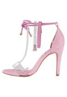 Sandália Minimalista Week Shoes Vinil 3 Tiras Rosa