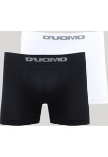 Kit De 2 Cuecas Boxer Masculinas D'Uomo Multicor