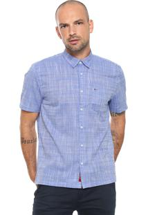 Camisa Aramis Reta Básica Azul