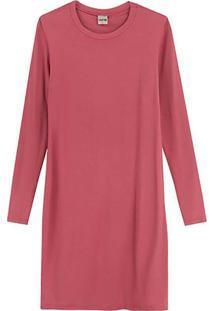 Vestido Rosa Curto Em Moletinho