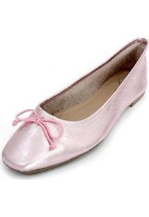 Sapatilha Couro Dali Shoes Bailarina Feminina - Feminino-Rosa