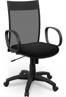 Cadeira Diretor Tela Giobel Braã§O Corsa Preta - Preto - Dafiti