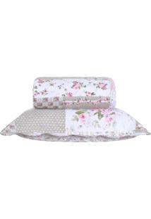 Kit Colcha Matelassê Lit Dupla Face Lilly Super King