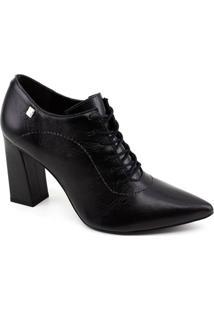 Sapato Abotinado Loucos E Santos - Feminino-Preto
