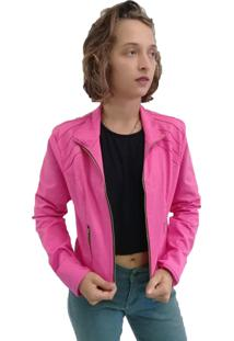 Jaqueta Bazz Sarja Nervura Rosa Pink