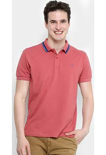 Camisa Polo Forum Piquet Masculina - Masculino-Vermelho