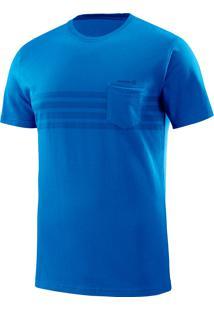 Camiseta Eared Ss Yonder Azul Masculina P - Salomon