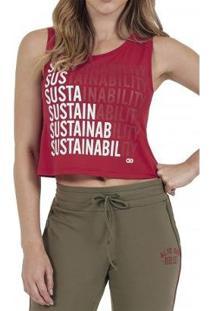 Regata Alto Giro Speed Sustainability Eco Feminina - Feminino-Vermelho