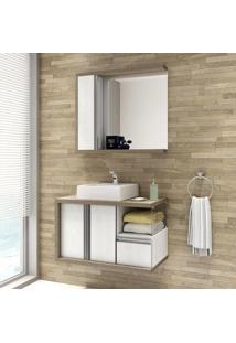 Conjunto Para Banheiro Blanc 80 Balcony Não Acompanha Torneira Artico/Linho