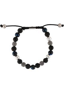 Nialaya Jewelry Pulseira Texturizada - Preto