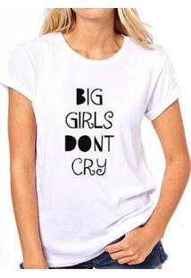 Camiseta Coolest Big Girls Don'T Cry Feminina - Feminino