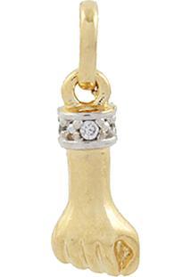 Pingente Narcizza Semijoias Figa Com Detalhes Em Cristal Ouro