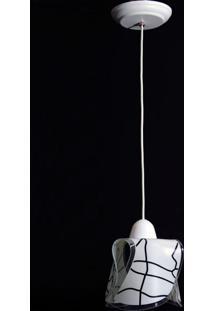 Pendente Tulipa Helice 9019/1 Craquelado Branco
