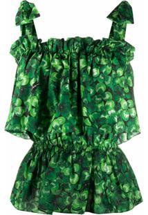Dolce & Gabbana Blusa Estampada - Verde