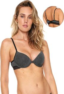 Sutiã Indecense Push-Up Lurex Preto