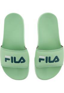 Chinelo Fila Drifter Basic - Slide - Feminino - Verde Claro