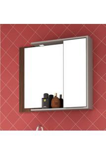 Espelheira Com Led 1 Porta 80Cmx69Cm Lazio Móveis Bosi