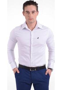 Camisa Social Masculina - Super Slim - Masculino-Branco