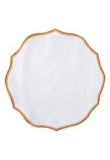 Jogo Americano Provence Redondo 1 Unidade - Branco