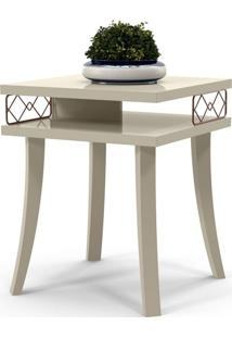 Mesa Lateral Quadrada Dior Off White