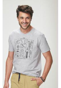 Camiseta Cinza Malwee