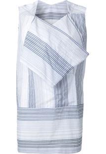 Stella Mccartney Vestido Listrado - Branco