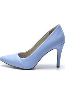 Scarpin Calzaph Verniz Azul
