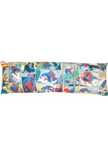 Fronha Spider Manâ®- Azul & Amarela- 45X130Cm- Zozona Criativa