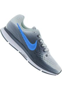 Tênis Nike Air Zoom Pegasus 34 - Masculino - Cinza Cla/Azul Esc