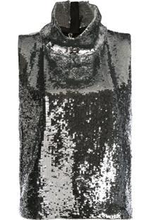 Halpern Blusa Metalizada - Prateado
