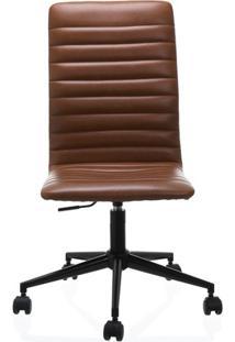 Cadeira Em Poliuretano Winslow Cognac