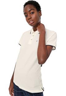 Camisa Polo Ellus Listras Off-White